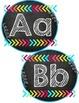 Chalkboard & Brights Word Wall Letters/Alphabet