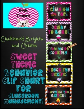 Chalkboard Brights,Sweet Theme,Behavior Management Clip Ch