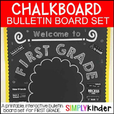 Meet the Teacher - Chalkboard Bulletin Board - First Grade