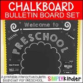 Chalkboard Bulletin Board - Welcome to Preschool