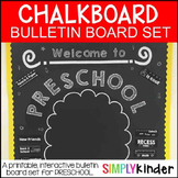 Meet the Teacher - Chalkboard Bulletin Board - preschool -