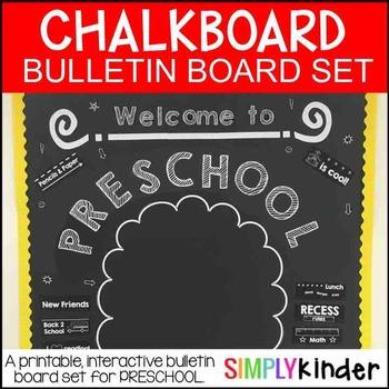 Meet the Teacher - Chalkboard Bulletin Board - preschool -