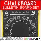 Chalkboard Bulletin Board - Welcome to Second Grade - Back