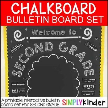 Chalkboard Bulletin Board - Welcome to Second Grade - Back
