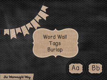 Chalkboard & Burlap Word Wall Headers