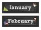 Chalkboard Calendar Set {white}