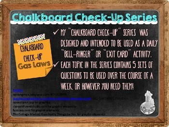 Chalkboard Check-Up Gas Laws