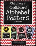 Chalkboard Chevron Alphabet D'Nealian