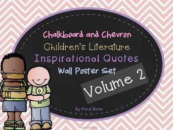 Chalkboard & Chevron Children's Literature Inspirational Q