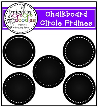 Chalkboard Circle Frames (The Price of Teaching Clipart Set)