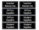Chalkboard Classroom Cabinet labels