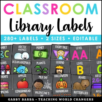 Chalkboard Library Labels
