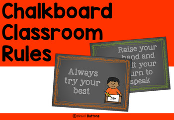 Chalkboard Classroom Rules Posters
