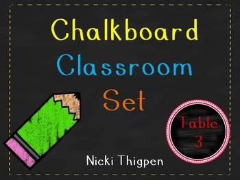 Chalkboard Classroom Set
