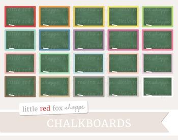 Chalkboard Clipart; Classroom