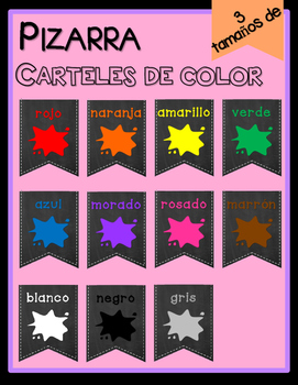 Chalkboard Color Posters - SPANISH