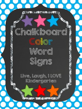 Chalkboard Color Signs