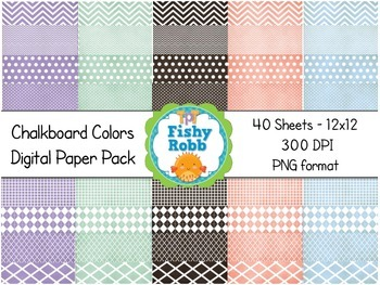 Digital Background Papers: Chalkboard Colors