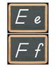 Chalkboard D'Nealian Alphabet