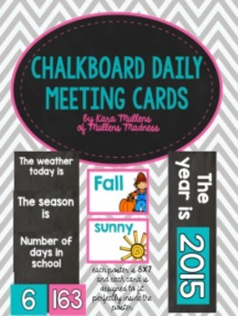 Chalkboard Daily Meeting Posters