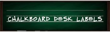 Desk Labels in Chalkboard {editable}