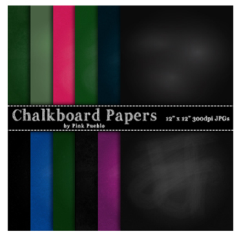 Chalkboard Digital Printable Scrapbook Papers or Backgrounds