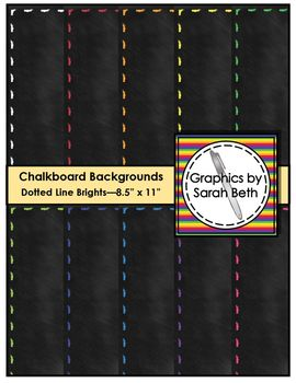 Chalkboard Dotted Line Backgrounds - Clipart - Graphics