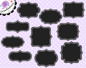 Chalkboard Fancy Clip Art Frames 1