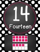 Chalkboard Flair -Black & White Polka Dot (w/ HOT PINK) Nu