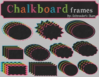 Chalkboard Frames: Commercial or Personal Use