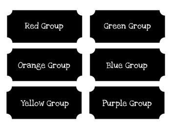 Chalkboard Group Labels (Color)