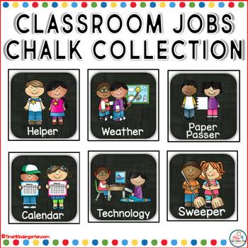 Classroom Jobs Chalkboard Collection