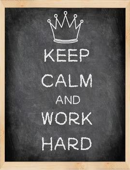 Chalkboard Keep Calm and Work Hard