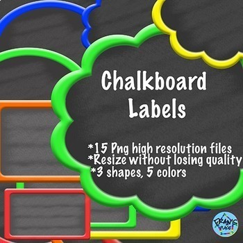 Chalkboard Label Clip Art!  Classroom Labels and Tags