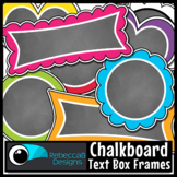 Chalkboard Labels and Frames Clip Art