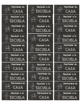 Chalkboard Labels (Spanish) for Homework Folders