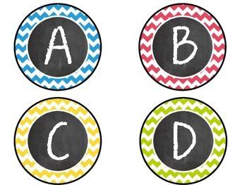Chalkboard Letter Labels