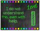 Chalkboard Levels of Understanding Poster Set