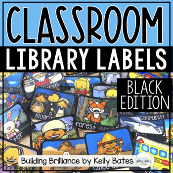 Chalkboard Library Book Box Labels {Over 150 Book Labels!}