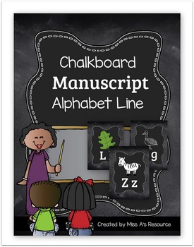 Chalkboard Manuscript Alphabet Line