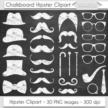 Chalkboard Moustache Clipart Gentleman Clip Art White Hips