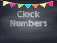 Chalkboard Multi Colored Banner Clock Numbers