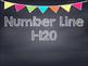 Chalkboard Multi Colored Banner Number Line