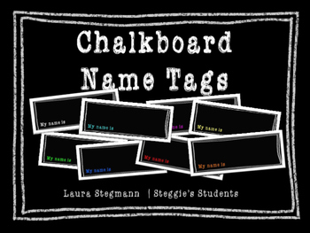 Chalkboard Name Tags