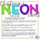 EDITABLE Chalkboard Neon Labels
