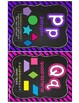 Chalkboard & Neon MATH Word Wall Posters and Word Wall Labels
