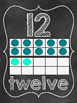 Chalkboard Numbers 1-20 with Ten Frame