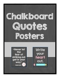 Chalkboard Quotes Posters