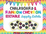 Rainbow Chevron Chalkboard Labels