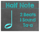 Chalkboard Rhythm Posters